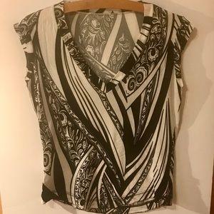 Just Cavalli printed v neck top